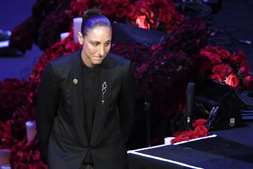 Kobe Bryant memorial: Read WNBA star Diana Taurasi's words