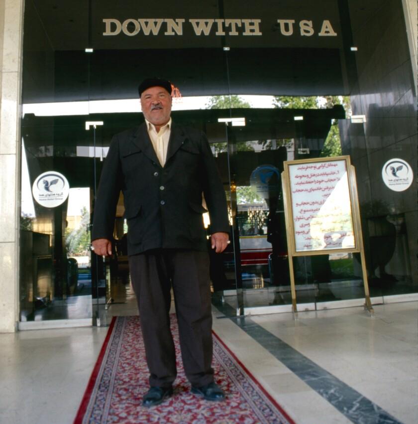 Doorman, Homa Hotel, Mashhad, Iran, 1998.