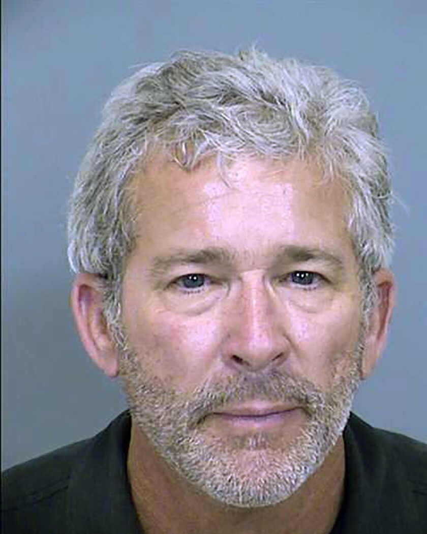In this undated photo provided by the Maricopa County Sheriff's Office is Charles Rodrick, who is charged in Arizona with fraud and other charges in what prosecutors say was a harassment scheme to get payments from sex offenders in exchange for removing their names from a website he owned. Prosecutors say Rodrick and two other people received money for removing the names from Rodrick's site but failed to do so or republished the victims' profiles on other sites owned by Rodrick. At a court hearing Wednesday, April 7, 2021, Rodrick said authorities tried unsuccessfully to make a criminal case against him several years ago. (Maricopa County Sheriff's Office via AP)