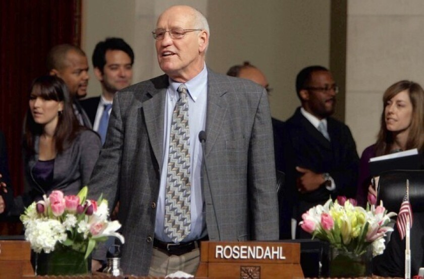 L.A. City Councilman Bill Rosendahl, shown in March, continues to receive cancer treatments that began during the summer. He said he is using medical marijuana to deal with the pain.