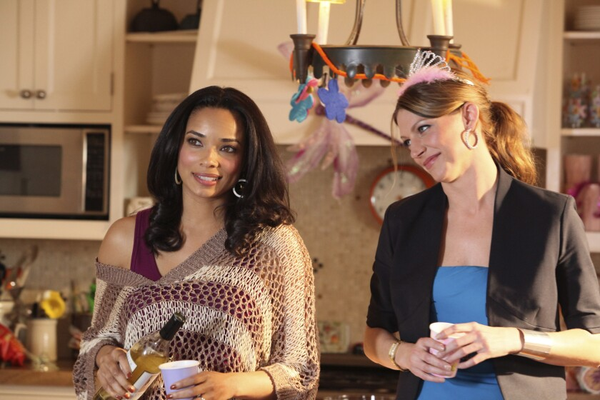 'Mistresses' stars - Rochelle Aytes as April and Jes Macallan as Josslyn