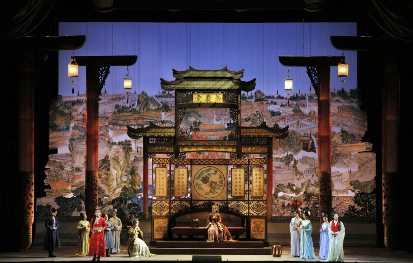 """A scene from San Francisco Opera's """"Dream of the Red Chamber."""""""