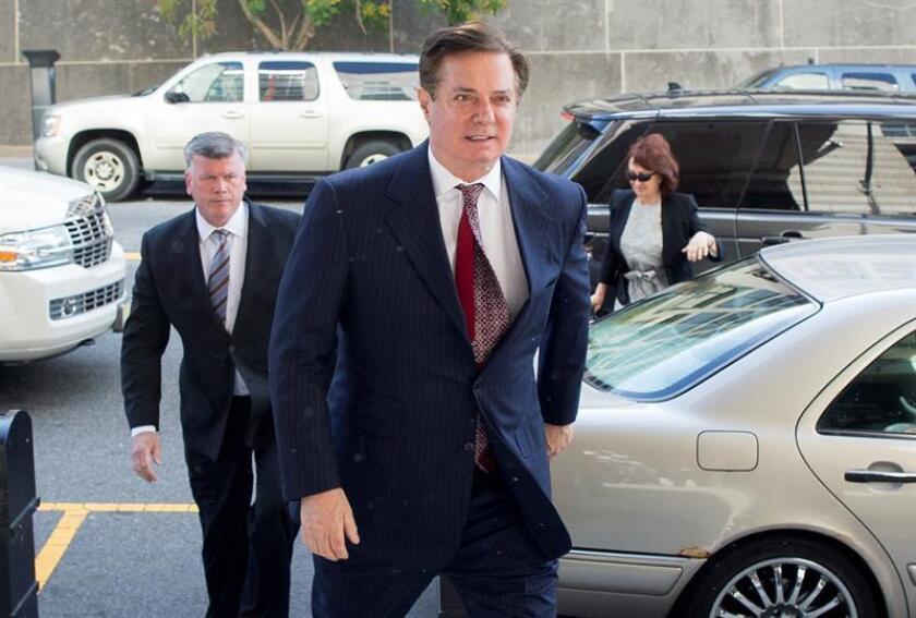 Paul Manafort, el exjefe de campaña del presidente, Donald Trump, será sentenciado el próximo 8 de febrero tras aceptar cooperar con la fiscalía especial de la investigación de la llamada trama rusa, informó hoy un juez federal. EFE/ARCHIVO