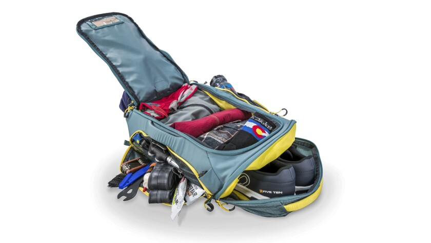 Osprey-Trailkit_F17_Detail_Capacity - Osprey's TrailKit duffle/backpack holds a lot of gear. It ho