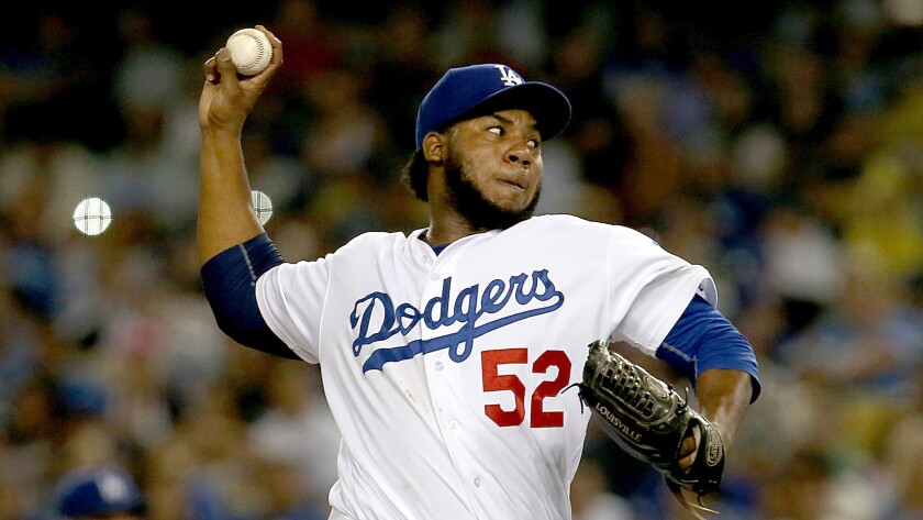 After posting a 1.43 earned-run average before the All-Star break, Dodgers reliever Pedro Baez has put up a 4.66 ERA since then