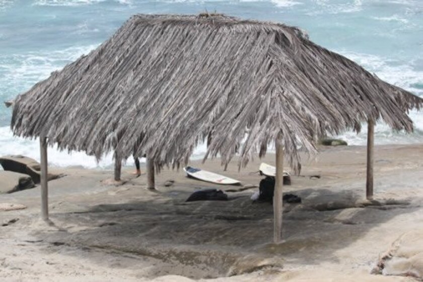 The historic WindanSea shack is one of several spots from which lifeguards survey the beach and shoreline at WindanSea Beach.