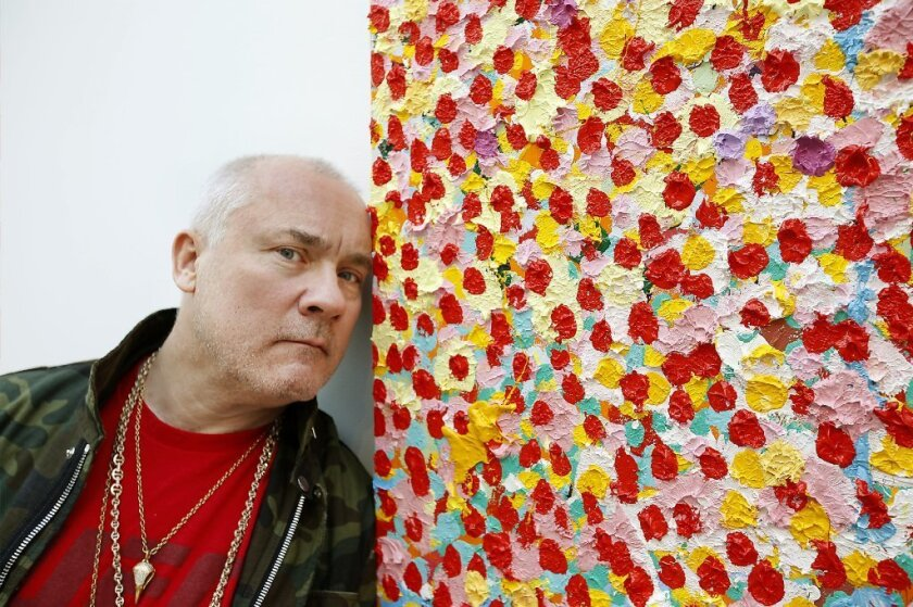Why Damien Hirst Is Seeing Dots In His New Work On View In Beverly Hills Los Angeles Times