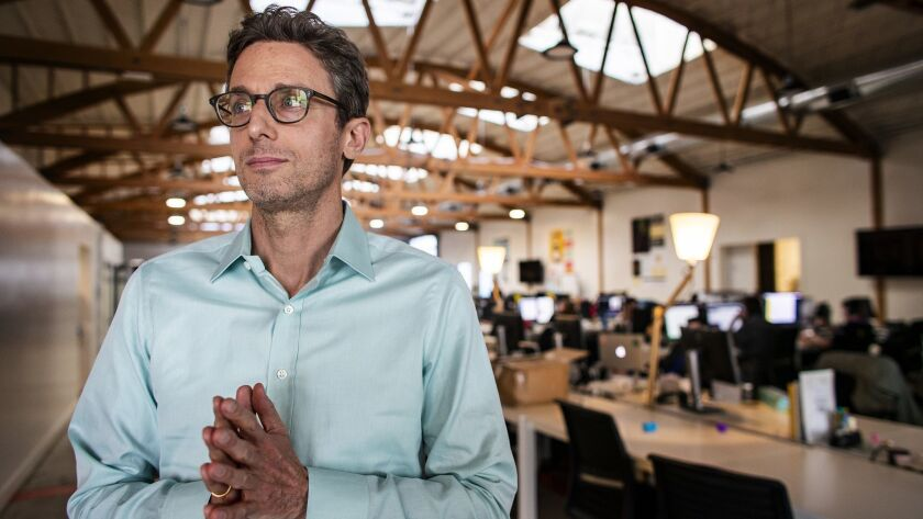 LOS ANGELES, CA - APRIL 25, 2019: BuzzFeed CEO Jonah Peretti had to layoff employees earlier this y