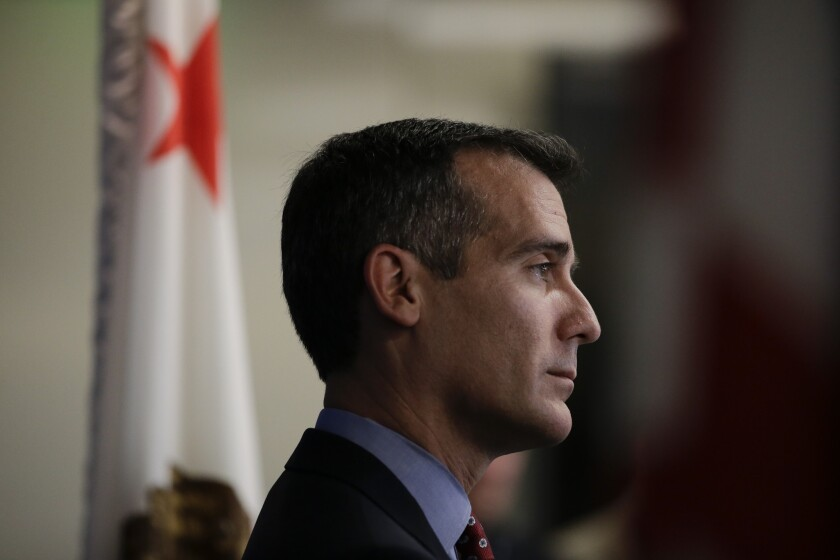 Los Angeles Mayor Eric Garcetti is one of the leaders of a group attempting to bring the Olympics to the city in 2024.