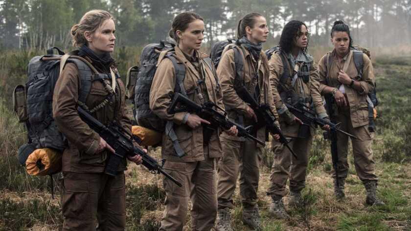 """La cinta de ciencia ficcion """"Annihilation"""", que se presenta ya en cartelera, cuenta con un amplio reparto femenino encabezado por Natalie Portman."""
