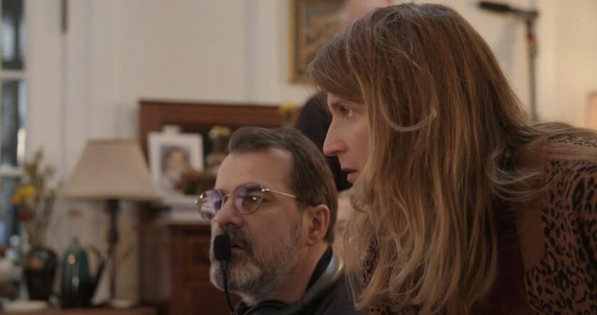 "Director Kornél Mundruczó with writer and wife Kata Wéber on the set of ""Pieces of a Woman."""
