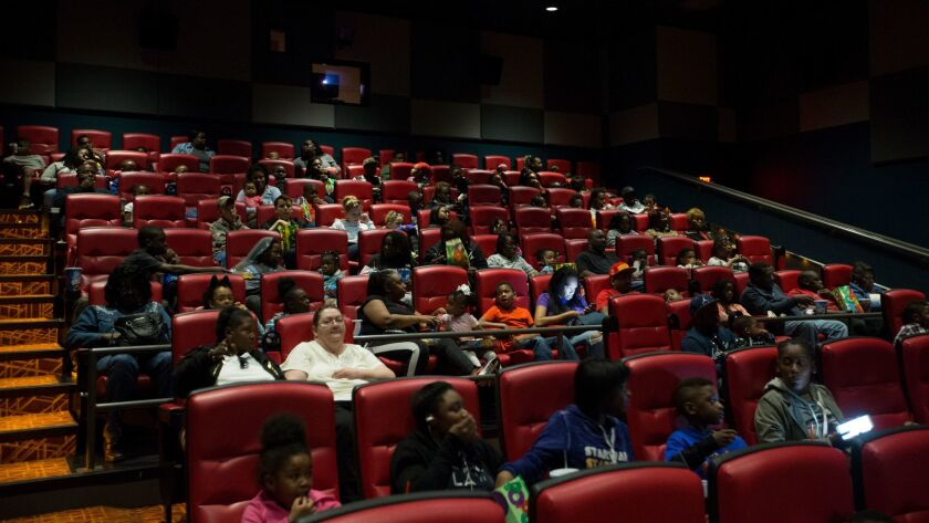 ST. LOUIS, MISSOURI, APRIL 2, 2017 The theater fills up for a showing of Boss Baby at the 24:1 Theat