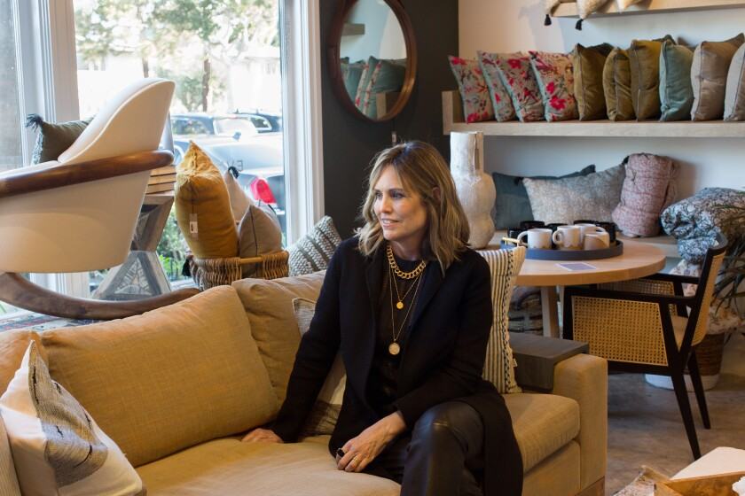 Denise Morrison, designer and owner of the House of Morrison store in Newport Beach, in her store's showroom.
