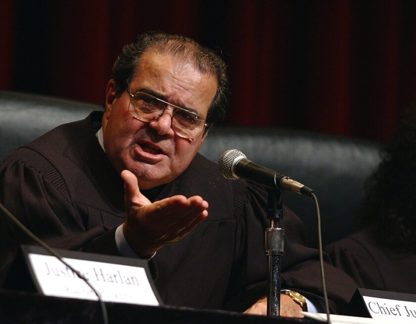 "U.S. Supreme Court Justice Antonin Scalia said during arguments in an affirmative action case that African American students might be better served enrolling in ""slower-track"" colleges."