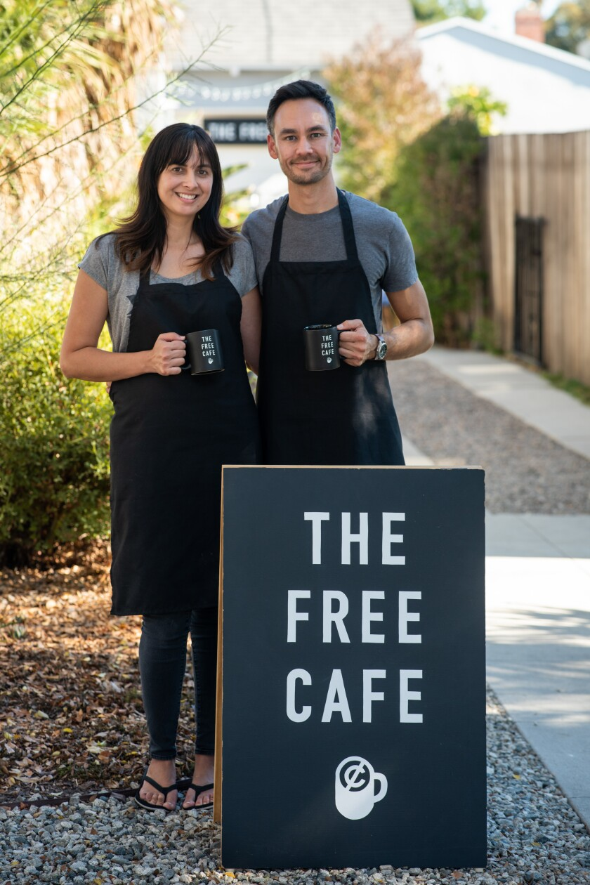 The Free Cafe hosts Irene Silva and Michael Rippens