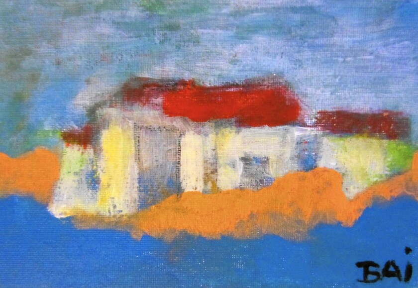Landscape with Raw Houses by Carl Karni Bain