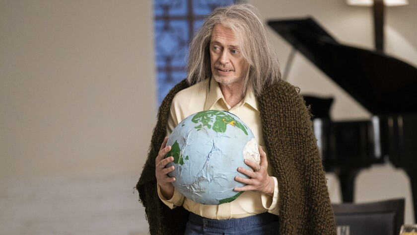 """Steve Buscemi in """"Miracle Workers"""" on TBS."""