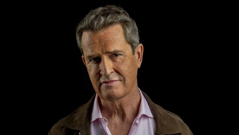 LOS ANGELES, CA --OCTOBER 25, 2018 -- English actor Rupert Everett, is photographed during promotion