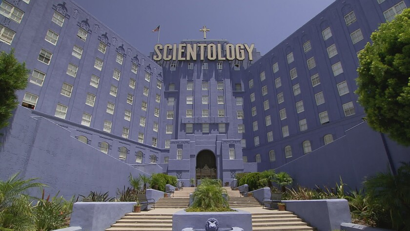 The Scientology building on Sunset Boulevard in Hollywood.