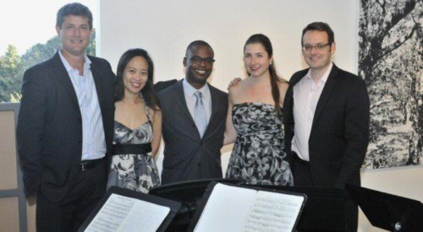 Art of Élan: Abe Liebhaber (cello), Pei-Chun Tsai (violin), Demarre McGill (flute), Kate Hatmaker (violin), Travis Maril (viola)