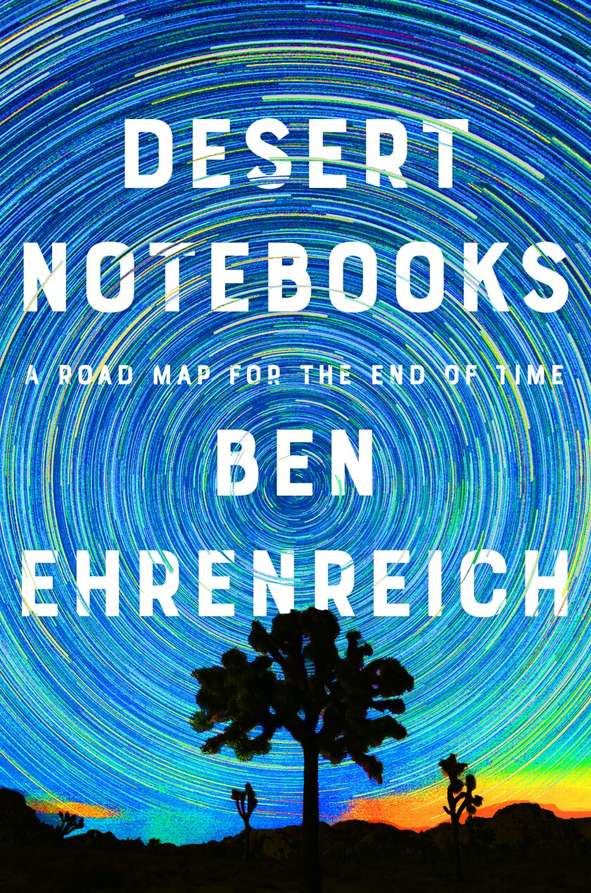 """A book jacket for Ben Ehrenreich's """"Desert Notebooks: A Road Map for the End of Time."""""""