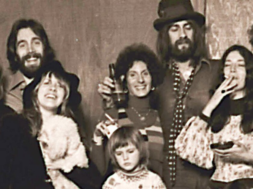 "In his new book, ""Rumours"" co-producer Ken Caillat (top left) details what it was like making that classic 1977 album with Stevie Nicks (second from left). Mick Fleetwood (in hat) and the other members of Fleetwood Mac. Caillat will discuss his book Thursday, June 6, at 7:30 p.m. at Warwick's in La Jolla."