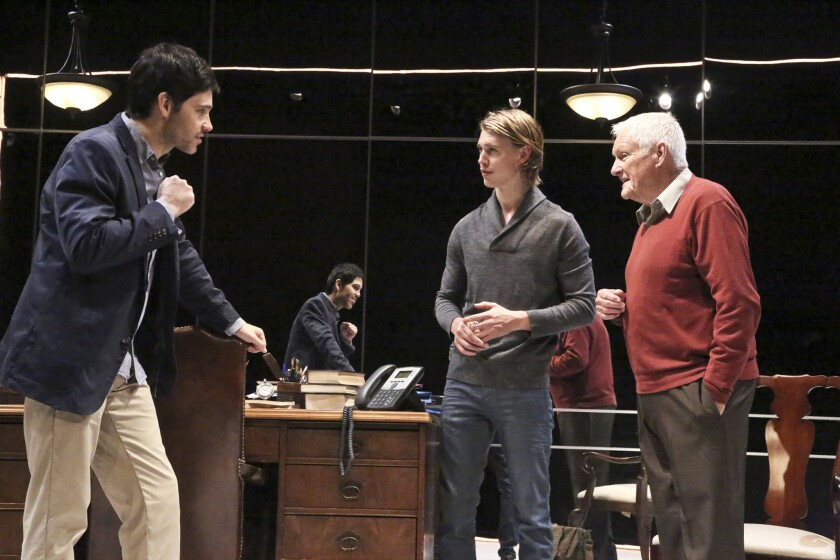 """David Clayton Rogers, left, Austin Butler and Orson Bean in """"Death of the Author."""""""