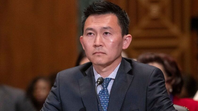 Kenneth Kiyul Lee testifies in March before a Senate committee.
