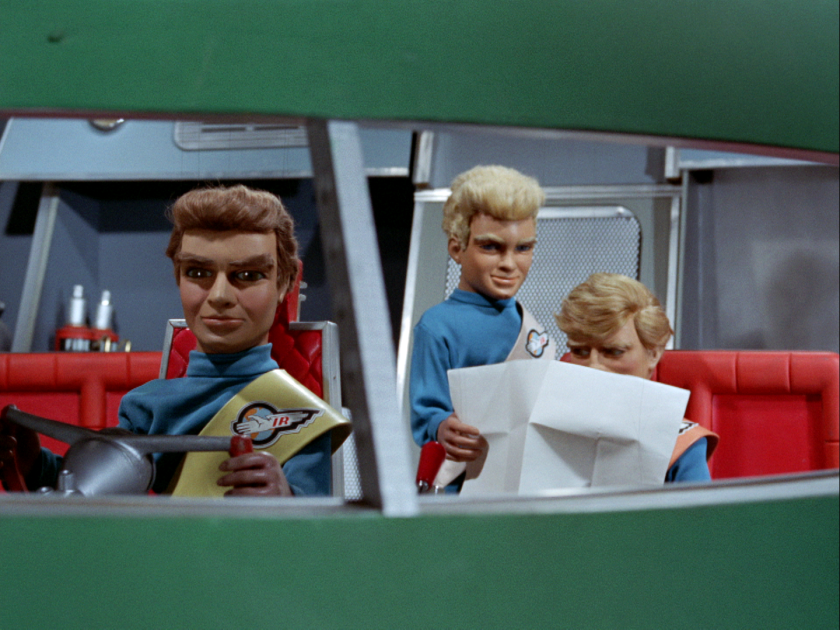 """Marionettes come to the rescue in Gerry Anderson's 1960s sci-fi puppet series """"Thunderbirds,"""" now available in its entirety on Blu-ray, from Shout Factory."""