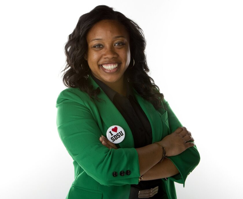 San Diego State University Vice President of Associated Students, Channelle McNutt