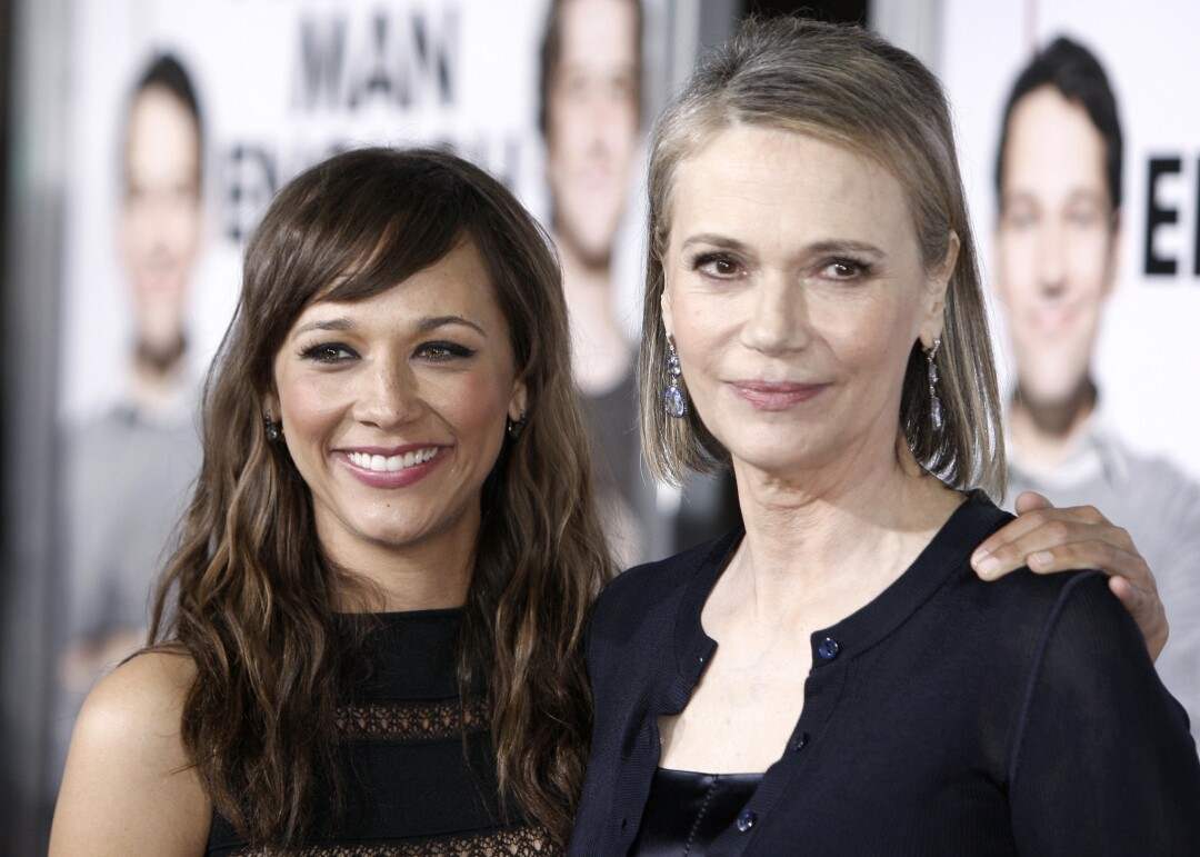 "Rashida Jones, left, and her mom, actress Peggy Lipton, at the premiere of ""I Love You, Man"" in Los Angeles in 2009."