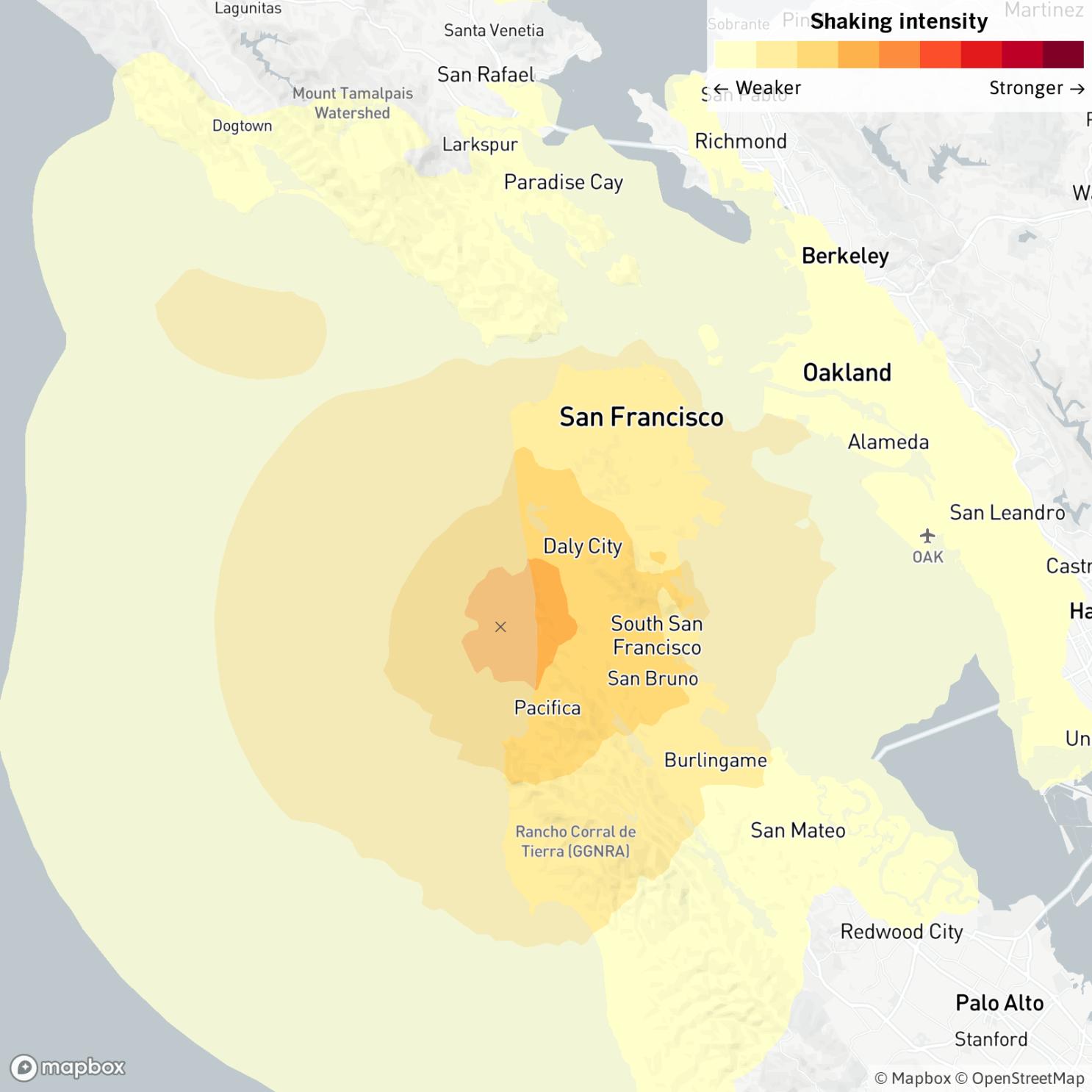 Magnitude 3 5 Earthquake Felt Across San Francisco Bay Area Los Angeles Times