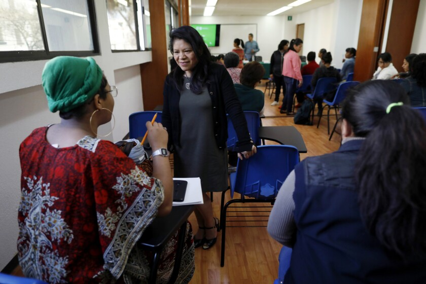 MEXICO CITY, -- SUNDAY, FEBRUARY 10, 2019: Marcelina Bautista, general director Center for Support