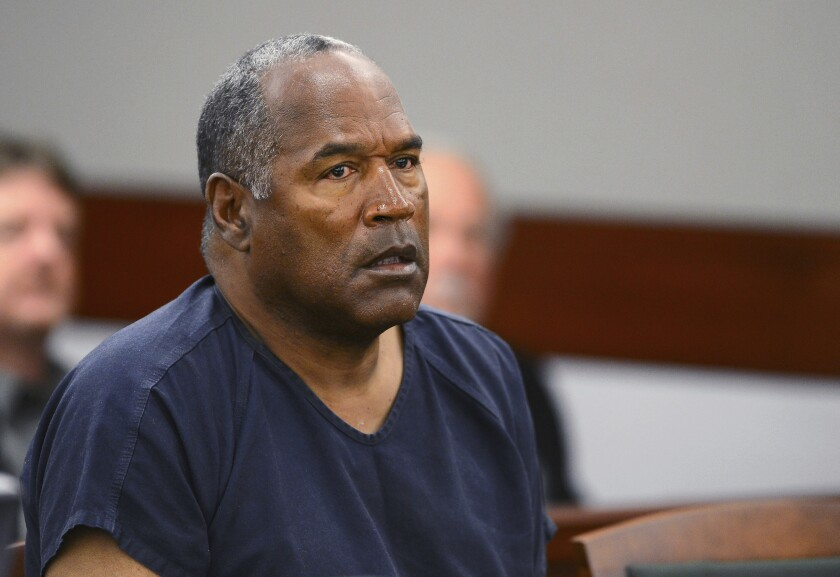FILE - In this May 14, 2013, file photo, O.J. Simpson appears at an evidentiary hearing in Clark County District Court in Las Vegas. On Friday, June 18, 2021, Simpson's lawyer says he'll keep fighting recent court orders in Nevada that the former football star owes least $60 million in judgments stemming from the 1994 killings of his ex-wife Nicole Brown Simpson and her friend, Ron Goldman. (Ethan Miller via AP, Pool, File)