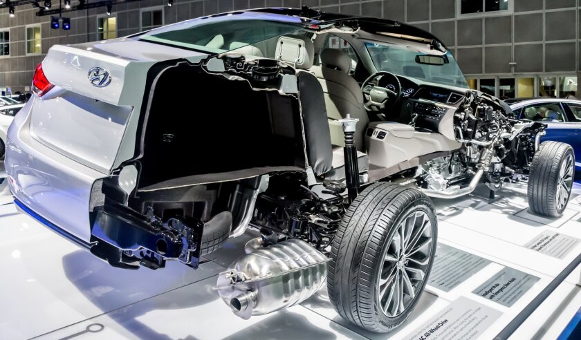 Hyundai Genesis cutaway car
