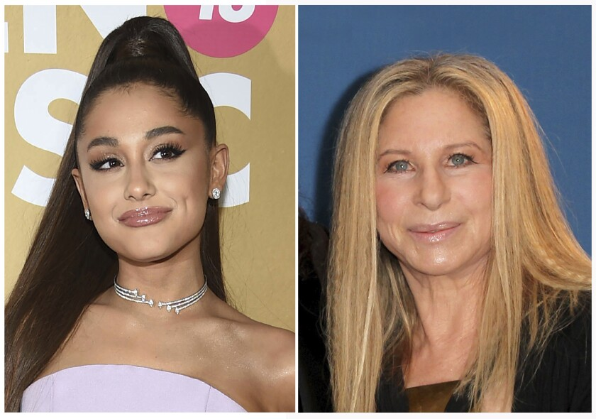 Ariana Grande performed a surprise duet with Barbra Streisand on Tuesday.