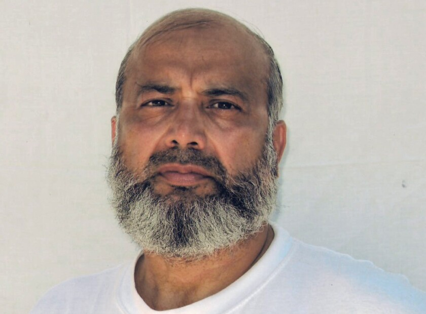This undated photo made by the International Committee of the Red Cross and provided by lawyer David H. Remes, shows Guantanamo prisoner Saifullah Paracha. A lawyer for the oldest prisoner at the U.S. base at Guantanamo Bay, Cuba, says authorities have approved his release after more than 16 years in custody. Attorney Shelby-Sullivan Bennis says she was notified Monday that the prison review board determined 73-year-old Saifullah Paracha is deemed to no longer pose a threat to U.S. security. The native of Pakistan has been held at Guantanamo since September 2004 for suspected links to al-Qaida but was never charged. (Provided by David H. Remes via AP)