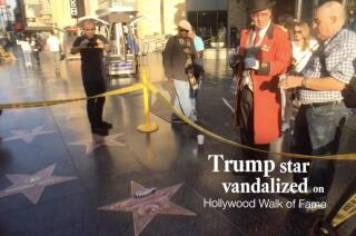Donald Trump's star vandalized on Hollywood Walk of Fame