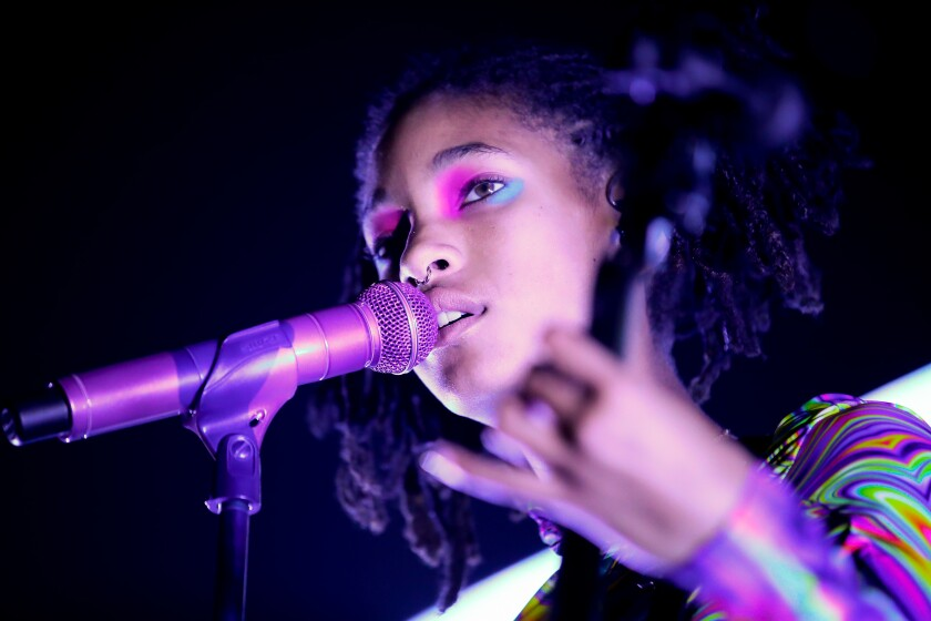 Willow Smith during a December performance in Los Angeles.