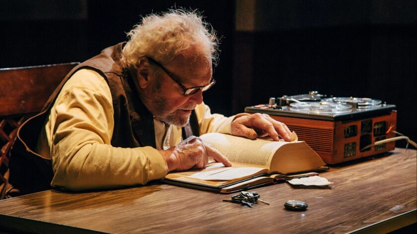 "Brian Dennehy stars in Samuel Beckett's ""Krapp's Last Tape"" at Geffen Playhouse"