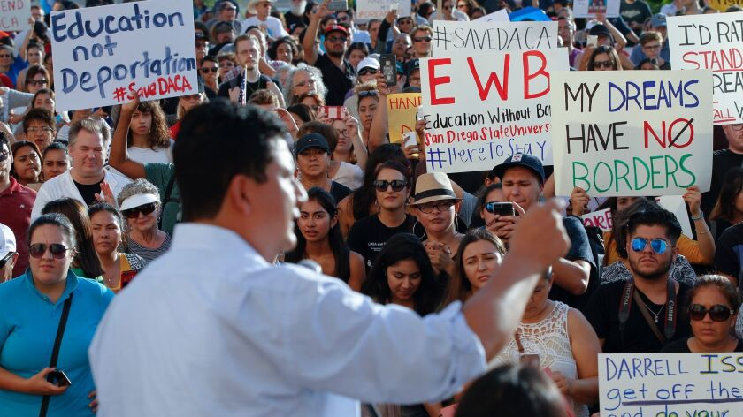 Christian Ramirez spoke to the crowd at the County Administration building before turning over the r