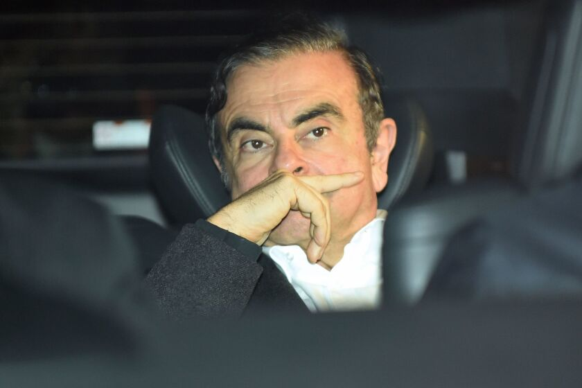 Former Nissan chairman Carlos Ghosn plans to hold a news conference Jan. 8 in Beirut.