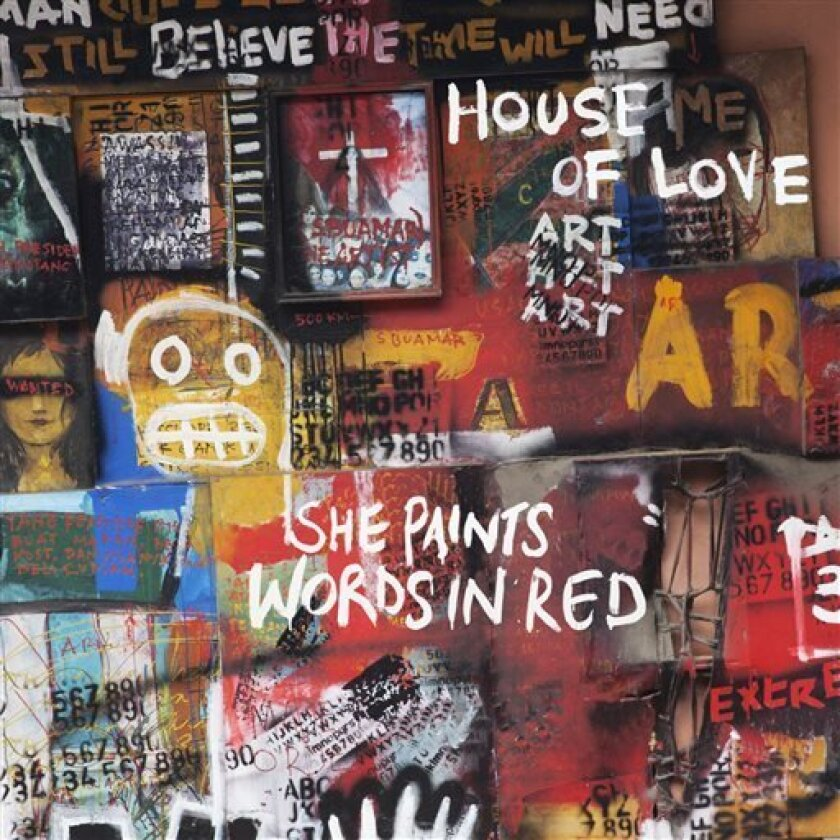 """This CD cover image released by Cherry Red shows """"She Paints Words in Red,"""" by House of Love. (AP Photo/Cherry Red)"""