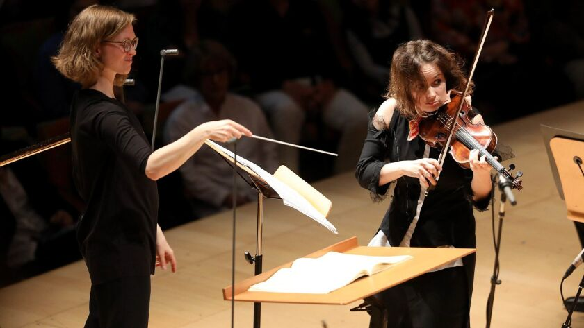 Conductor Mirga Grazinyte-Tyla and violinist Patricia Kopatchinskaja