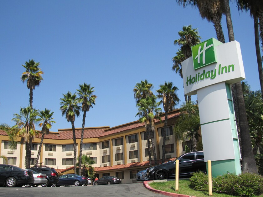 The county of San Diego is looking to create housing for homeless people at a repurposed Holiday Inn in La Mesa.
