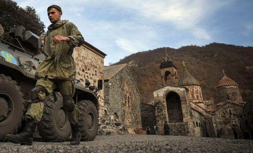 Russian peacekeeper in Nagorno-Karabakh
