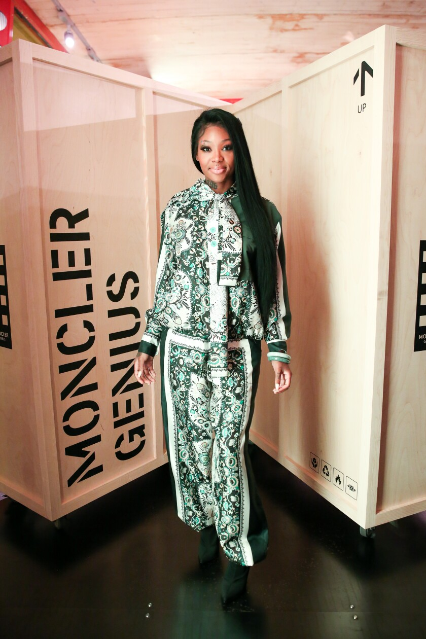 Summer Walker at the Moncler House of Genius launch party at Maxfield in West Hollywood.