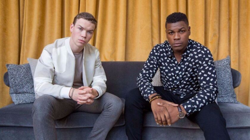 """""""Detroit"""" stars Will Poulter, left, and John Boyega, right, are photographed at the Foundation Hotel"""