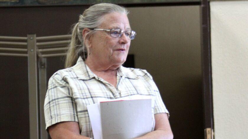 Environmental Center of San Diego board member Pam Heatherington speaks to La Jolla Parks & Beaches