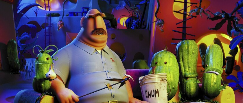 """""""Cloudy With a Chance of Meatballs 2"""" started out as a very different kind of food movie, says co-director Kris Pearn."""